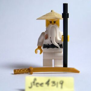 Sensei Wu Tan Hat with staff Hands of Time 70626 NEW LEGO Ninjago Minifig