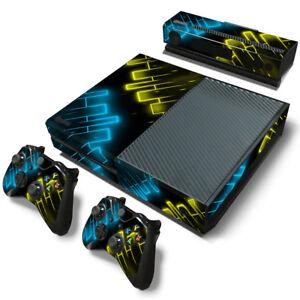 CompéTent Xbox One Console Skin Decal Sticker Glow Color + 2 Controller Design Custom Set