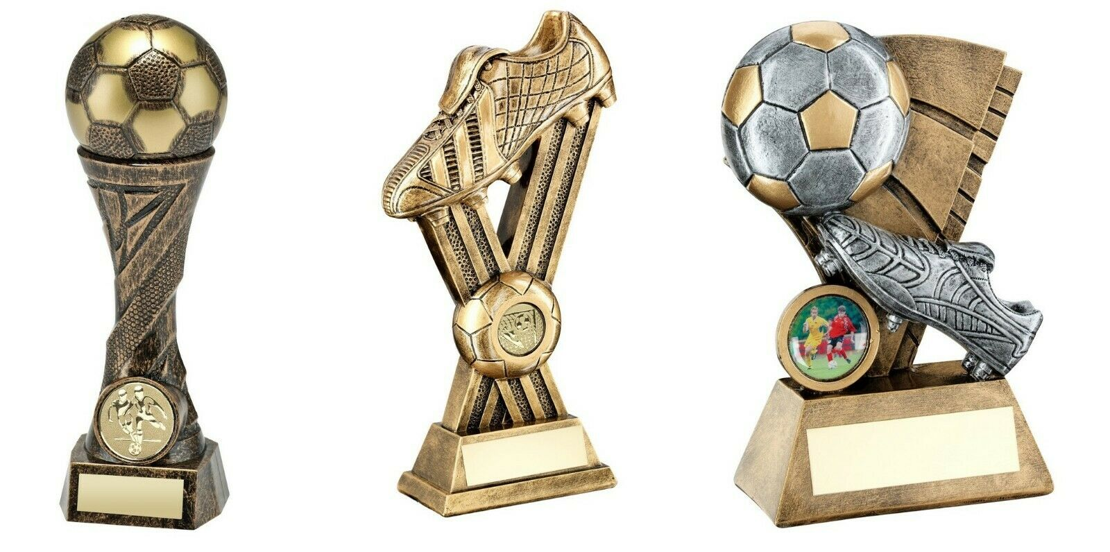 6,7 & 9 inch Football Trophy Awards engraved post free (RRP .00)