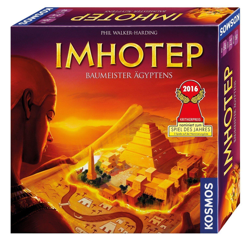 Kosmos Spiele Imhotep Brett und Strategiespiel mit 120 Holzwürfeln Kinderspiel  | Grüne, neue Technologie