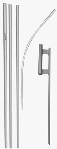 """16ft Pubblicità in alluminio PIOMBATO Piuma Pole con 30/"""" Set di Terra Spike"""