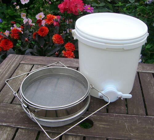 20L Honigeimer Honig Bucket Filter Imker Honig Sieb Strainer Sifter Edelstahl DE