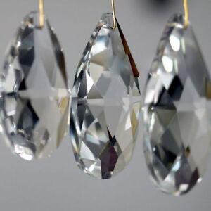 10Pcs-Clear-Chandelier-Glass-Crystal-Lamp-Pendants-Faceted-Prism-Drop-Decoration