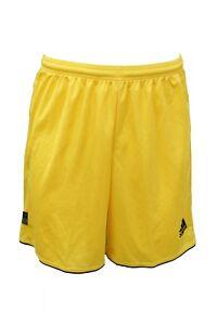 Dettagli su Pantaloncino giallo da uomo donna Adidas calcio shorts casual  moda