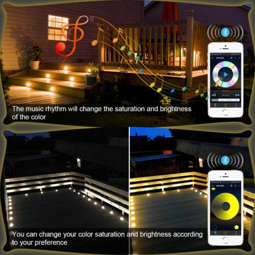 WIFI Bluetooth Controller LED Bodeneinbaustrahler Terrasse Außen Leuchte Dimmar