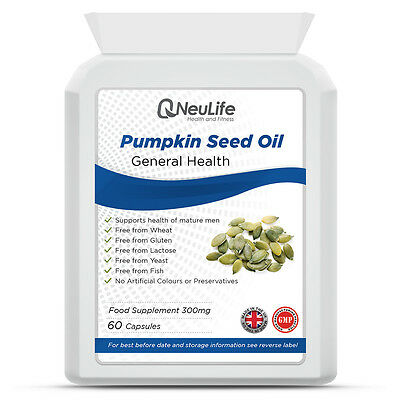 Pumpkin Seed Oil - 250mg - 60 Capsules