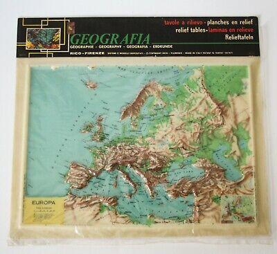 Cartina Sardegna Rilievo.Plastico Europa In Rilievo Geografia Edizioni Rico Anni 60 Vintage Cartina Ebay