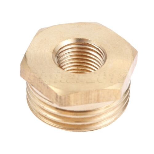 2PCS//Set Brass Hex Reducing Bushing Adapter Male to Female Pipe Fitting Couplers