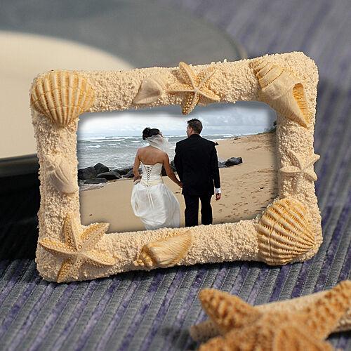 75 plage sur le thème de Cadre photo mariage faveurs Seashell Place Porte-carte