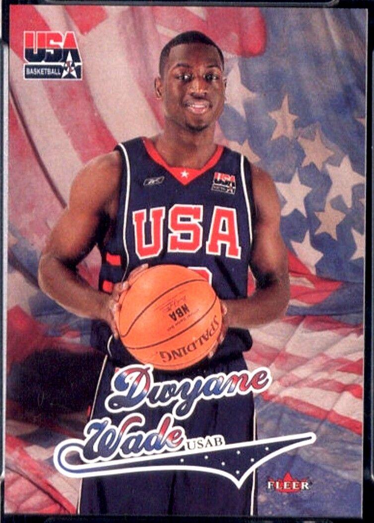 Dwyane Wade Rc 2003 2004 Fleer Usa Rookie Card Miami Heat G