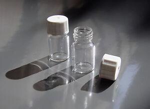 Glasflasche 3ml 20 Stück inkl. Kappe - Nachfüllbar - Leer - NEU