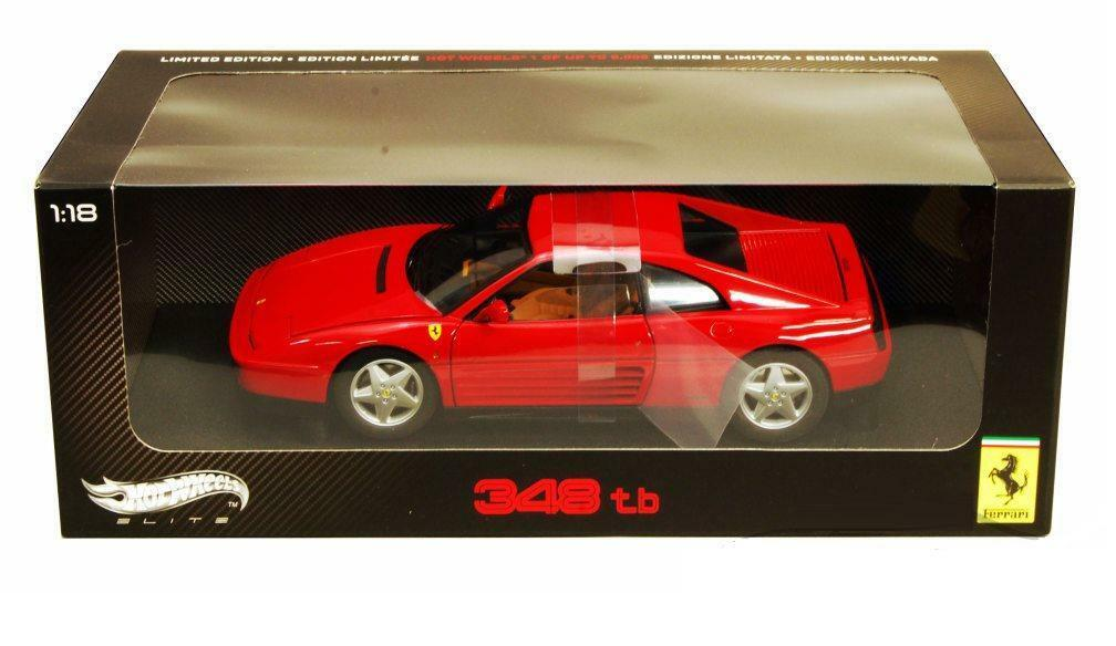 1 18 Hot Wheels Ferrari 348 TB Elite Edition Diecast Model Car Red V7436