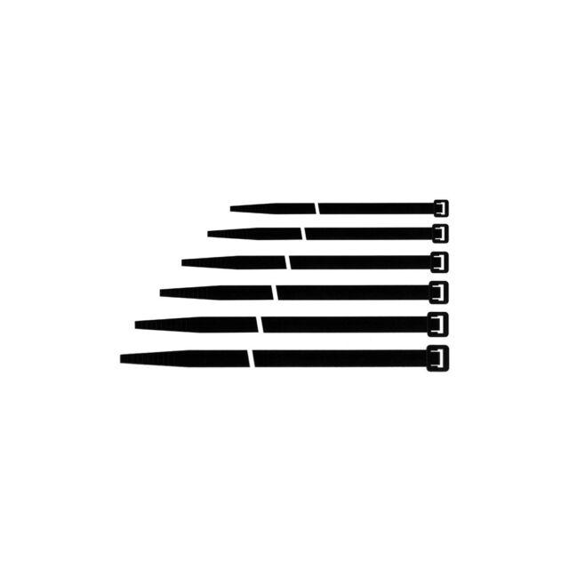 Fascette cablaggio Maurer colore nero 280x4,5 confezione da 100 pezzi