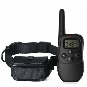 Remote-LCD-100LV-300M-Electric-Shock-Vibrate-Pet-Dog-Training-Collar-Waterproof