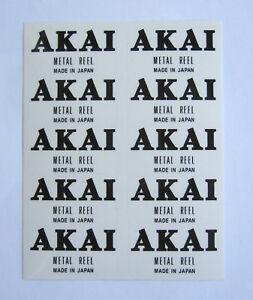 10-X-Carrete-De-Metal-Akai-Personalizado-calcomanias-Autoadhesivos-carrete-a-carrete-de-cinta-negro