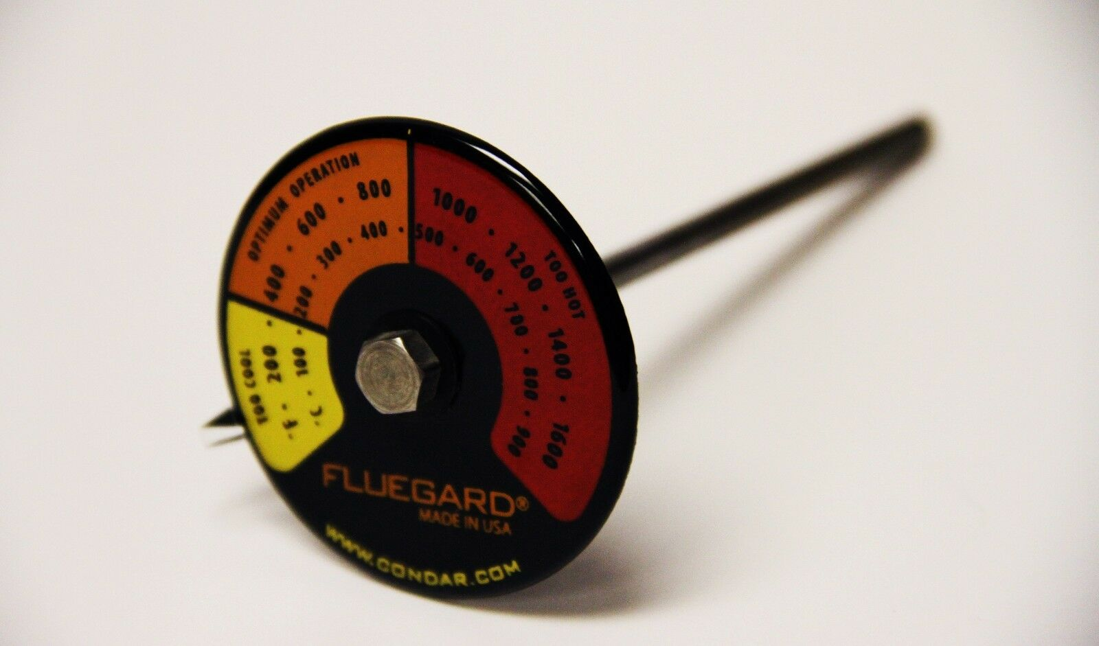 3-39 Stove pipe probe thermometer for double wall stovepipe on wood stoves