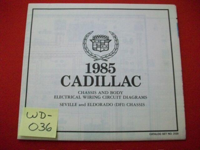 1985 Gm Cadillac Seville  U0026 Eldorado  U0026quot  Dfi  Chassis U0026quot  Elect