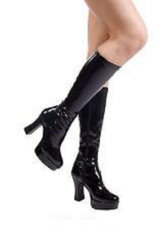 Sexy Sexy Sexy STIVALI tacco 14 dal 36 al 44 NERO LUCIDO plateau zip scarpe GLAMOUR ffb506