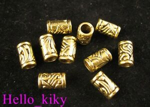 60Pcs-Antiqued-gold-plt-ornate-tube-spacer-beads-A276