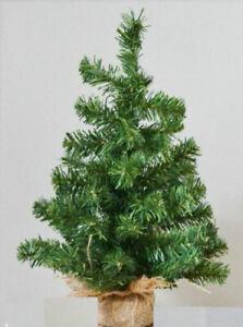 Christmas Table Top  Desk Artificial Small Mini Xmas Tree jute base 45 cm