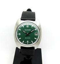 1960s Vintage VOUMARD 2000 GREEN DIAL Swiss Backwinder Watch Back Set Wind Crown