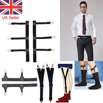 2pcs Elastic Garters Non-slip Locking Socks Clamp Suspender Shirt Stay Gift