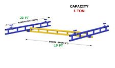 Gorbel Ceiling Mounted Bridge Crane Al 1 Ton Capacity Glcs 2000 15al 23