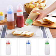 DIY Rotating Lid Plastic Squeeze Sauce Bottle Kitchen Dining Home Tools Gadgets
