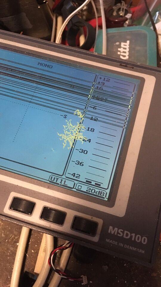 """Audio meter """"analog"""", DK audio MSD 100"""