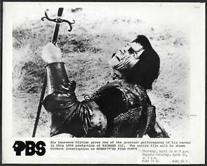 Laurence-Olivier-Come-Richard-III-Originale-Pbs-Promo-Foto-Shakespeare-R80s