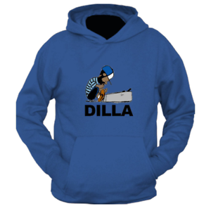 Just Dilla Hoodie in black 90s Soul Hip Hop legend