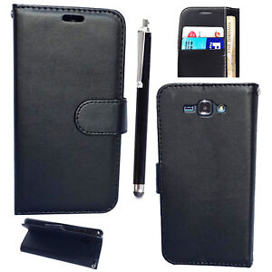 size 40 31438 624c7 Details about Black Magnetic Wallet Case PU Leather Book Cover For Samsung  Galaxy J5 (J500)