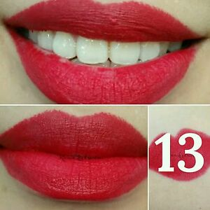 No 13 Menow KISSPROOF Powdery Matte Soft Lipstick Smooth Lip Crayon (Virgin Red)