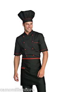 Caricamento dell immagine in corso GIACCA-Cuoco-NERA-e-Rossa-x-Chef-Cucina- bd9fe3518841