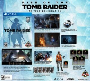 Rise Of The Tomb Raider 20 Year Celebration Ps4 New Ps Vr Mode