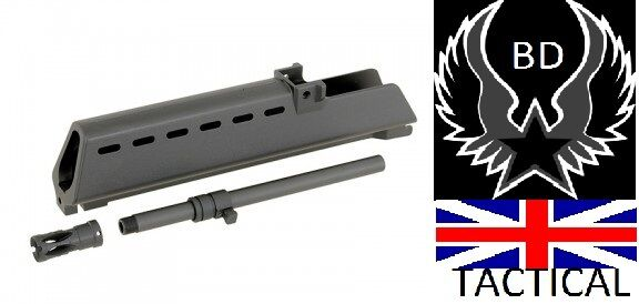 Jg g series 332mm cyma flash hider hider hider + outer barrel airsoft hand guard noir af46e9