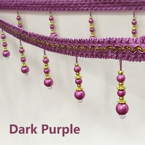 Image is loading 11M-Bead-String-Tassel-Trim-Ribbon-Curtain-Decor- 2b9495240