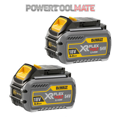 Twin Pack Dewalt DCB546 18v//54v FLEXVOLT XR 6.0Ah Li-ion Battery