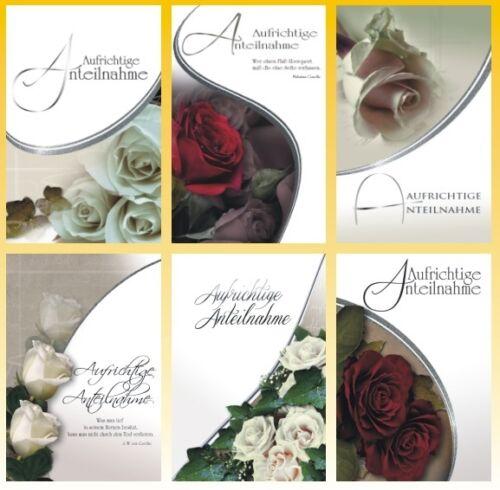 50 Trauerkarten Trauerkarte Trauer Beileidskarten Kondolenzkarten 816640 HI