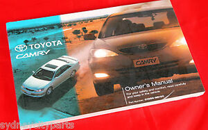 Image Is Loading TOYOTA CAMRY OWNERS MANUAL AUG 02 JULY 03