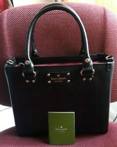 Details About Authentic Kate Spade Small Wellesley Quinn Leather Satchel Bag Purse 398 Black