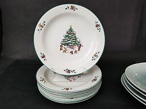 Whimsical Christmas Tree Dinner Plates
