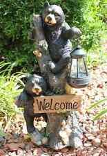 Bear Welcome Solar Statue Home Garden Decor Figure Light Lawn Yard Patio Outdoor