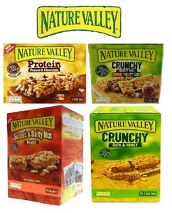 Details about Nature Valley Protein Bars Peanut Butter Crunchy Variety  Oat&Honey Sweet&Salty