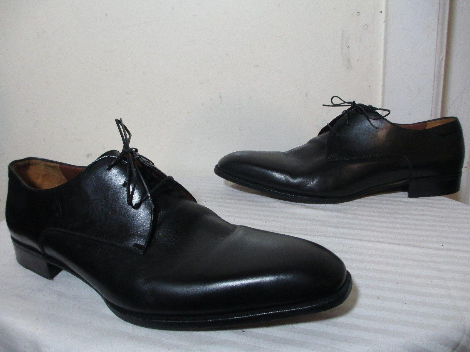 A. Testoni para hombre Negro Cuero Con Cordones Oxford de vestir Zapatos m Hecho en Italia