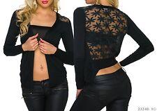 Gilet/Vest Femme/Woman en Coton et Laines mélangées Noir