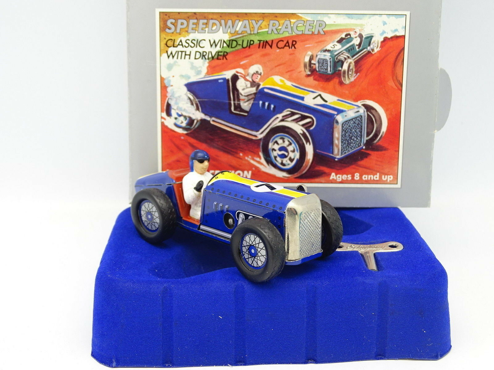 Schylling Lata Toy - Speedway Racer con llave