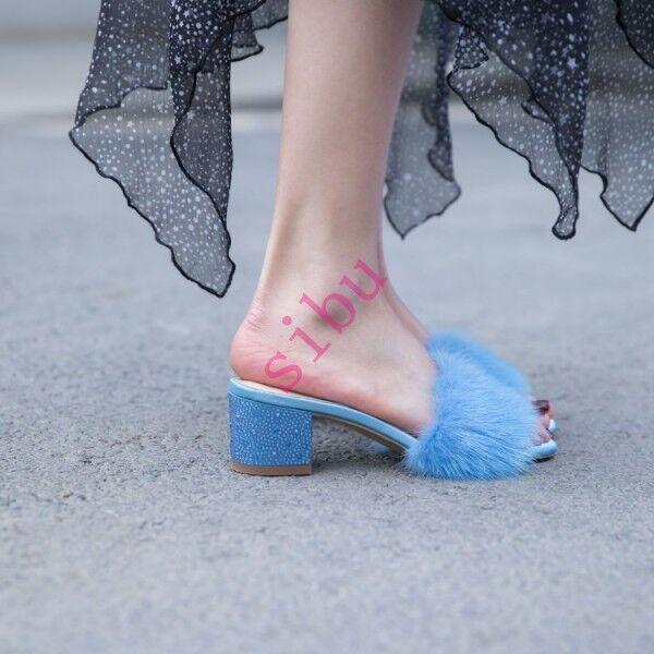vendita con alto sconto donna Block Block Block Heel Slippers Sandals Mink Fur  Date Sweet Open Toe Mules Slippers  alta quaità