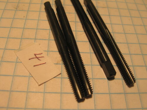 4 Pc 8-32 4 Flute Bottom FO P MS HS New Straight Line 41