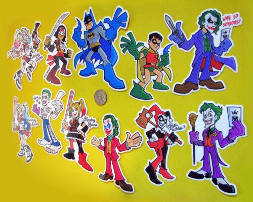 DC Comics Vinyl Sticker Batman Joker Harley Quinn Car Truck Laptop Decal